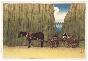 thumbnail Hasui Kawase – Twelve Subjects of Tokyo : Komagata Embankment [from Kawase Hasui 130th Anniversary Exhibition Catalogue]