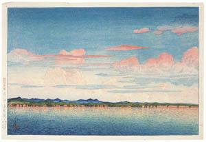 thumbnail Hasui Kawase – Souvenirs of My Travels, 2nd Series : Mano Bay, Sado [from Kawase Hasui 130th Anniversary Exhibition Catalogue]