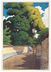 thumbnail Hasui Kawase – Souvenirs of My Travels, 2nd Series : Shimohonda-machi, Kanazawa [from Kawase Hasui 130th Anniversary Exhibition Catalogue]