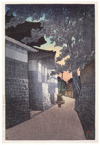 thumbnail Hasui Kawase – Souvenirs of My Travels, 2nd Series : Kōshō Temple in Himi, Etchū [from Kawase Hasui 130th Anniversary Exhibition Catalogue]