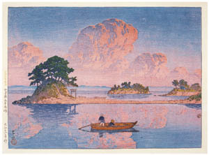 thumbnail Hasui Kawase – Selected Views of Japan : No. 18, Tsukumojima, Shimabara [from Kawase Hasui 130th Anniversary Exhibition Catalogue]