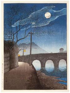 thumbnail Hasui Kawase – Selected Views of Japan : No. 15, The Kotsukigawa River, Kagoshima [from Kawase Hasui 130th Anniversary Exhibition Catalogue]