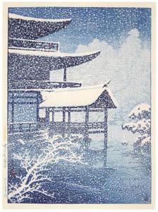 thumbnail Hasui Kawase – Selected Views of Japan : No. 17, Kinkakuji Temple in the Snow [from Kawase Hasui 130th Anniversary Exhibition Catalogue]