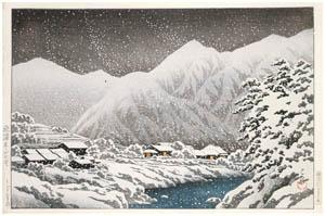 thumbnail Hasui Kawase – Souvenirs of My Travels, 3rd Series : Hida Nakayama-shichiri [from Kawase Hasui 130th Anniversary Exhibition Catalogue]