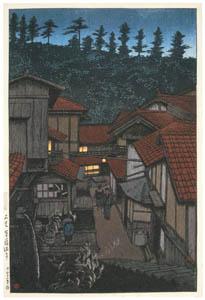 thumbnail Hasui Kawase – Souvenirs of My Travels, 3rd Series: Arifuku Hot Spring, Iwami [from Kawase Hasui 130th Anniversary Exhibition Catalogue]