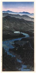 川瀬巴水 – 越中庵谷峠 [生誕130年 川瀬巴水展 郷愁の日本風景より]のサムネイル画像