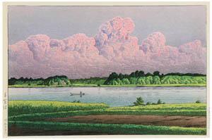 thumbnail Hasui Kawase – Lake Teganuma [from Kawase Hasui 130th Anniversary Exhibition Catalogue]
