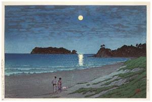 thumbnail Hasui Kawase – Shichirigahama [from Kawase Hasui 130th Anniversary Exhibition Catalogue]
