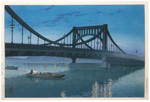 thumbnail Hasui Kawase – Kiyosubashi Bridge [from Kawase Hasui 130th Anniversary Exhibition Catalogue]
