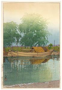 thumbnail Hasui Kawase – Morning in Tsuchiura [from Kawase Hasui 130th Anniversary Exhibition Catalogue]