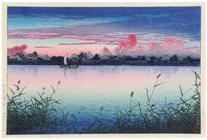 thumbnail Hasui Kawase – Urayasu in Early Autumn [from Kawase Hasui 130th Anniversary Exhibition Catalogue]