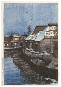 川瀬巴水 – 浦安の残雪 [生誕130年 川瀬巴水展 郷愁の日本風景より]のサムネイル画像