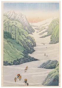 川瀬巴水 – 白馬の雪渓 [生誕130年 川瀬巴水展 郷愁の日本風景より]のサムネイル画像
