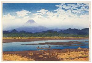 thumbnail Hasui Kawase – Selected Scenes of Tokaido Road : Banyu River [from Kawase Hasui 130th Anniversary Exhibition Catalogue]