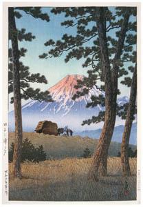 thumbnail Hasui Kawase – Selected Scenes of Tokaido Road : Dusk at Tagonoura Beach [from Kawase Hasui 130th Anniversary Exhibition Catalogue]