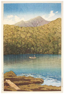 thumbnail Hasui Kawase – Japanese Sceneries, Eastern Japan Series : Morning at Tsutanuma Pond [from Kawase Hasui 130th Anniversary Exhibition Catalogue]
