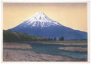 thumbnail Hasui Kawase – Fuji River [from Kawase Hasui 130th Anniversary Exhibition Catalogue]