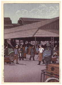 thumbnail Hasui Kawase – One Hundred Views of New Tokyo : Shiba Great Gate in Snow [from Kawase Hasui 130th Anniversary Exhibition Catalogue]