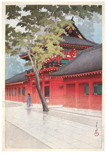 thumbnail Hasui Kawase – After the Rain at Sanno [from Kawase Hasui 130th Anniversary Exhibition Catalogue]