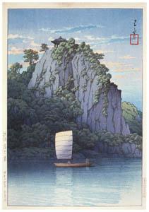thumbnail Hasui Kawase – Eight Views of Korea : Puyo Nakhwa Cliff [from Kawase Hasui 130th Anniversary Exhibition Catalogue]