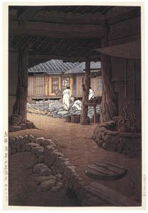 thumbnail Hasui Kawase – Views of Korea Supplement : Cheoneunsa Temple at Mount Jiri, Korea [from Kawase Hasui 130th Anniversary Exhibition Catalogue]