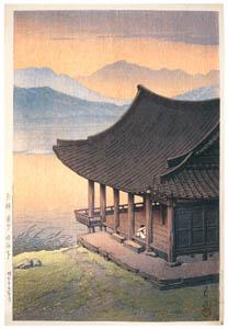 thumbnail Hasui Kawase – Views of Korea Supplement : Imhae Pavilion, Kyongju, Korea [from Kawase Hasui 130th Anniversary Exhibition Catalogue]