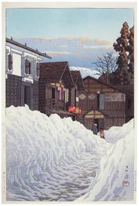 川瀬巴水 – 越後小千谷 [生誕130年 川瀬巴水展 郷愁の日本風景より]のサムネイル画像
