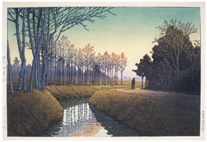 thumbnail Hasui Kawase – Tamiya Village, Saitama [from Kawase Hasui 130th Anniversary Exhibition Catalogue]