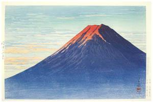 川瀬巴水 – 明ゆく富士 [生誕130年 川瀬巴水展 郷愁の日本風景より]のサムネイル画像