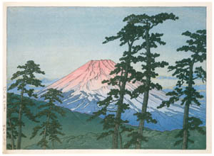 thumbnail Hasui Kawase – Mt. Fuji from Hakone [from Kawase Hasui 130th Anniversary Exhibition Catalogue]