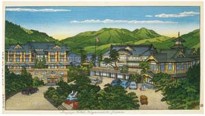 thumbnail Hasui Kawase – Fujiya Hotel in Hakone (Spring) [from Kawase Hasui 130th Anniversary Exhibition Catalogue]