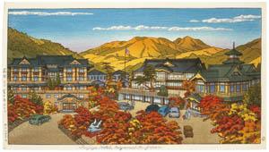 thumbnail Hasui Kawase – Fujiya Hotel in Hakone (Autumn) [from Kawase Hasui 130th Anniversary Exhibition Catalogue]