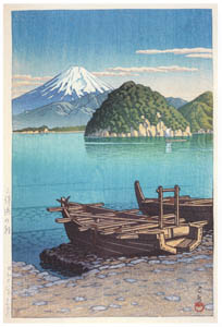 thumbnail Hasui Kawase – Morning at Mitohama [from Kawase Hasui 130th Anniversary Exhibition Catalogue]