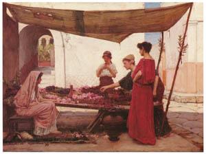 ジョン・ウィリアム・ウォーターハウス – 花屋 (ギリシャの花売り) [J.W. Waterhouseより]のサムネイル画像