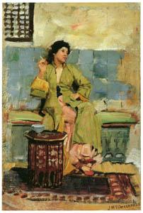 thumbnail John William Waterhouse – An Eastern Reminiscence (sketch) [from J.W. Waterhouse]