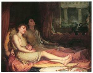 ジョン・ウィリアム・ウォーターハウス – 眠りの神ヒュプノスと死の神タナトスの兄弟 [J.W. Waterhouseより]のサムネイル画像
