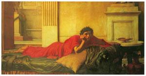 ジョン・ウィリアム・ウォーターハウス – 母親を殺害させたネロの自責 [J.W. Waterhouseより]のサムネイル画像