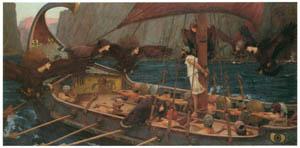 ジョン・ウィリアム・ウォーターハウス – ユリシーズとセイレーンたち [J.W. Waterhouseより]のサムネイル画像