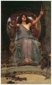 ジョン・ウィリアム・ウォーターハウス – オデュッセウスに杯を差し出すキルケ [J.W. Waterhouseより]のサムネイル画像