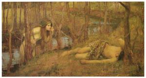 ジョン・ウィリアム・ウォーターハウス – ナイアド [J.W. Waterhouseより]のサムネイル画像