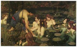 ジョン・ウィリアム・ウォーターハウス – ヒュラスとニンフたち [J.W. Waterhouseより]のサムネイル画像