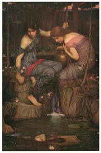 ジョン・ウィリアム・ウォーターハウス – オルフェウスの頭部を見つけるニンフ [J.W. Waterhouseより]のサムネイル画像