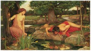 ジョン・ウィリアム・ウォーターハウス – エコーとナルキッソス [J.W. Waterhouseより]のサムネイル画像