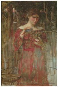 ジョン・ウィリアム・ウォーターハウス – イアーソーンとメーデイアの習作 [J.W. Waterhouseより]のサムネイル画像