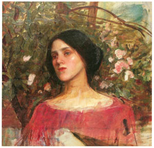 ジョン・ウィリアム・ウォーターハウス – 薔薇の私室 [J.W. Waterhouseより]のサムネイル画像