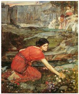 ジョン・ウィリアム・ウォーターハウス – 花摘みの乙女たちの習作 [J.W. Waterhouseより]のサムネイル画像