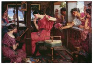 ジョン・ウィリアム・ウォーターハウス – ペネロペと求婚者たち [J.W. Waterhouseより]のサムネイル画像