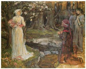 ジョン・ウィリアム・ウォーターハウス – ダンテとベアトリーチェの習作 [J.W. Waterhouseより]のサムネイル画像