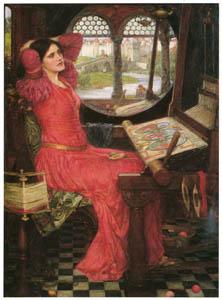 ジョン・ウィリアム・ウォーターハウス – 「影の世界にはうんざり」と言ったシャロット姫 [J.W. Waterhouseより]のサムネイル画像