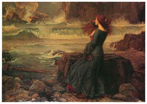 ジョン・ウィリアム・ウォーターハウス – ミランダ [J.W. Waterhouseより]のサムネイル画像